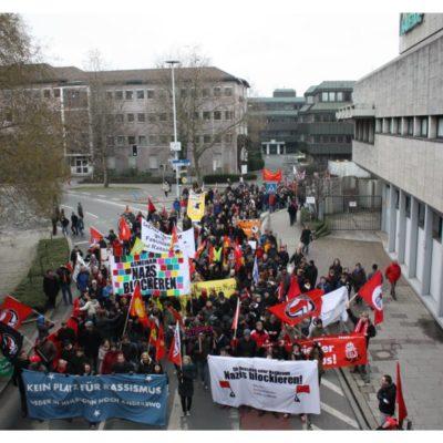 Demo gegen Nazis und Rassismus am 28. Januar 2012 am Wollhaus