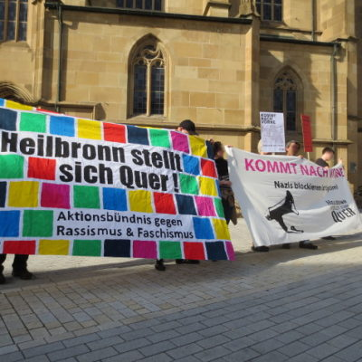 Kundgebung für den Nazigegner Tim H. auf dem Kiliansplatz am 17. April 2013