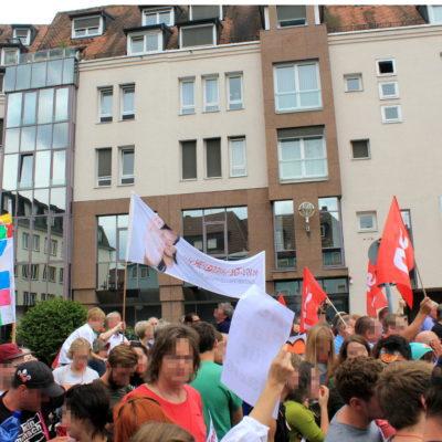 Protest gegen NPD-Kundgebung in Heilbronn am 31. August 2013