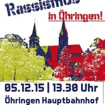 Kein Platz für Rassismus und rechte Hetze in Öhringen!