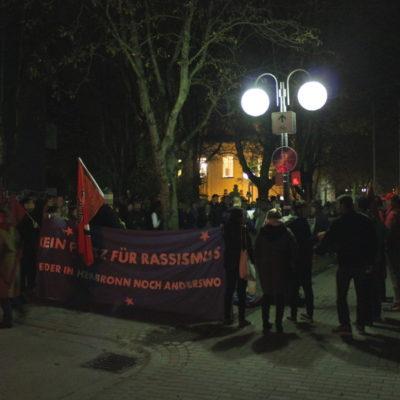Protest-Aktion gegen die AfD vor dem Heilbronner Schießhaus am 30. Oktober 2015