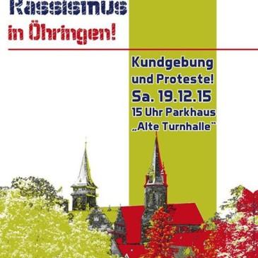 Kundgebung: Kein Platz für Rassismus in Öhringen!