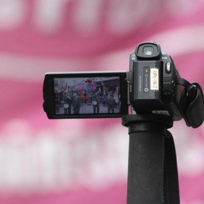 """Polizei filmt die Kundgebung gegen """"Heilbronn wach auf"""" am 7. Februar 2016"""