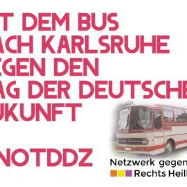 #notddz- Mit dem Bus nach Karlsruhe!