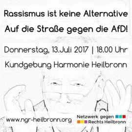 Rassismus ist keine Alternative – Auf die Straße gegen die AfD!