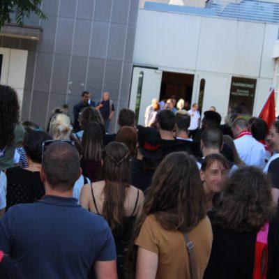 Vor der Harmonie in Heilbronn am 13. Juli 2017: das Netzwerk gegen Rechts protestiert gegen eine Wahlkamopfveranstaltung der AfD mit Alexander Gauland
