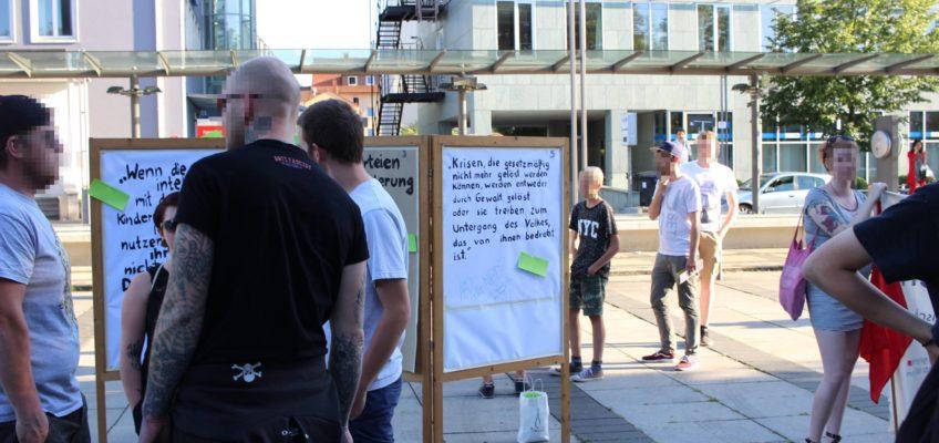 150 Menschen protestieren am 13. Juli 2017 gegen eine AfD-Veranstaltung in der Heilbronner Harmonie
