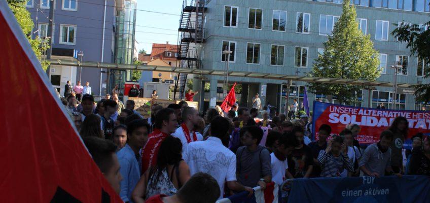 Kundgebung gegen die AfD-Veranstaltung in der Harmonie in Heilbronn am 13. Juli 2017