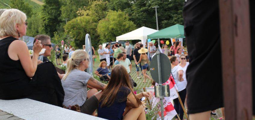 Solidaritäts-Fest gegen die AfD-Veranstaltung am 19. Juli 2017 vor der Hildthalle in Weinsberg