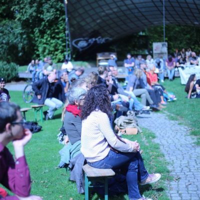 "Poetry-Slam ""Say it loud, say it clear"" im Wertwiesenpark am 18. September 2017"