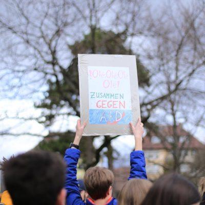 Zusammen gegen die AfD am 12. März 2018 auf dem Heilbronner Friedensplatz
