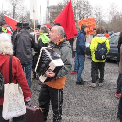 Auf der Theresienwiese: Demo gegen Naziterror und Rassismus am 28. Januar 2012