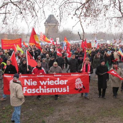 Demo gegen Nazis und Rassismus am 28. Januar 2012 auf der Theresienwiesein Heilbronn