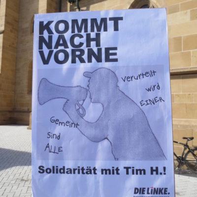 Soli-Aktion für den Nazigegner Tim H. auf dem Kiliansplatz am 17. April 2013