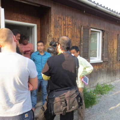 Refugees Liberation Bus Tour am 5. Mai 2013 in Obersulm-Willsbach