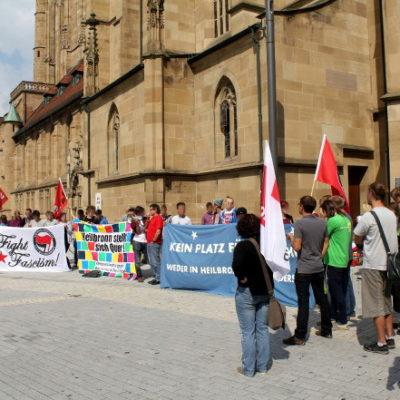 Kundgebung gegen die NPD am 28. August 2013 auf dem Kiliansplatz