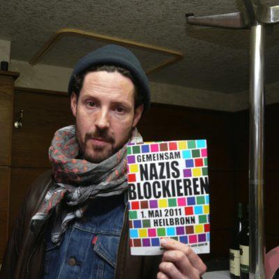 Max Herre unterstützt den Protest gegen den Neonaziaufmarsch in Heilbronn am 1. Mai 2011
