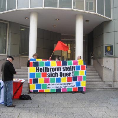 """Heilbronn stellt sich quer am 25. Oktober 2012 beim ersten Tag der """"Kesselklage"""" vor dem Verwaltungsgericht in Stuttgart"""