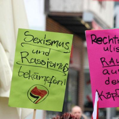 "Protest gegen ""Heilbronn wach auf"" am 7. Februar 2016 am Kiliansplatz"