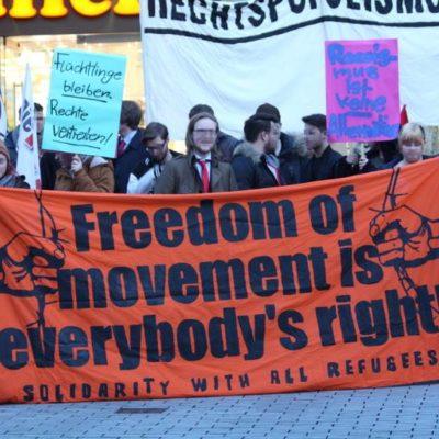 Anti-AfD-Demo auf dem Kiliansplatz am 7. März 2016
