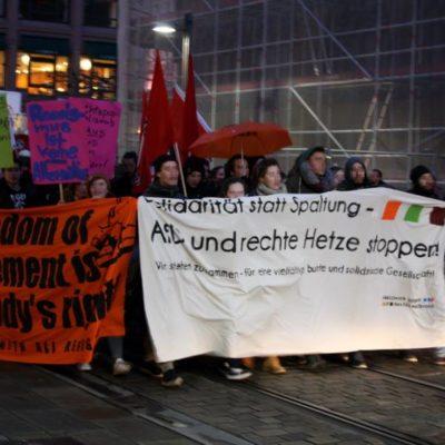 Demonstration gegen die Wahlkampfveranstaltung der AfD in Heilbronn am 7. März 2016