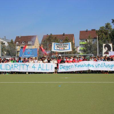 Kicken gegen Rassismus am 24. September 2016 (Foto:Organisierte Linke Heilbronn IL)