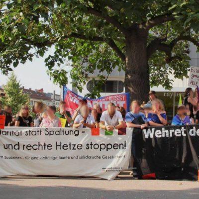 Laut und entschlossen gegen die AfD-Veranstaltung mit Alice Weidel in der Harmonie am 20. Juli 2018