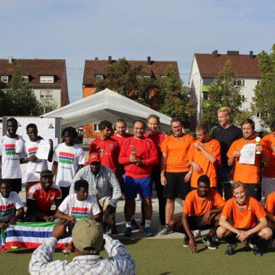 Kicken gegen Rassismus auf dem Sportplatz in der Oststraße in Heilbronn am 22. September 2018
